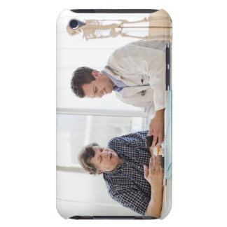 A doctor meeting with a patient and talking and Case-Mate iPod touch case
