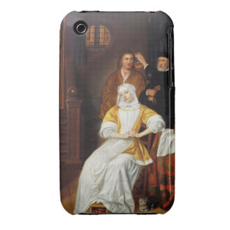 A Doctor Visiting a Young Lady in a Bedroom (oil o iPhone 3 Cover