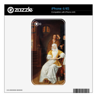 A Doctor Visiting a Young Lady in a Bedroom (oil o iPhone 4 Skins