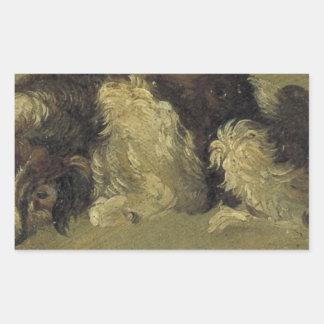 A dog by Theo van Doesburg Rectangular Sticker