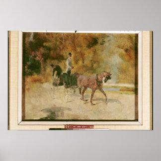 A Dog-Cart 1880 Poster