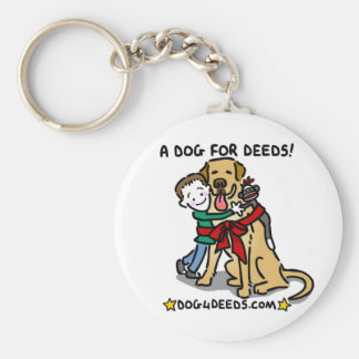 A Dog for Deeds Basic Round Button Keychain