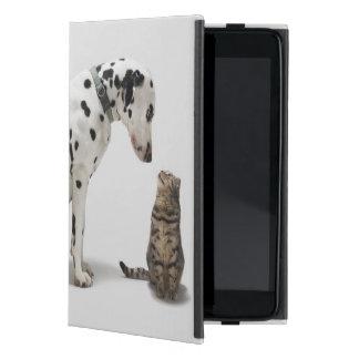 A dog looking at a cat iPad mini case
