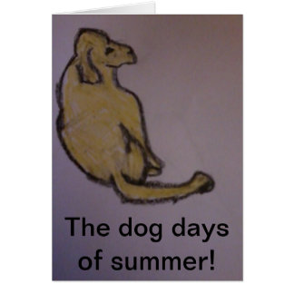 A Dog Note Card