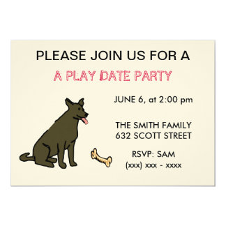 A Dog Play Date Party Invitation