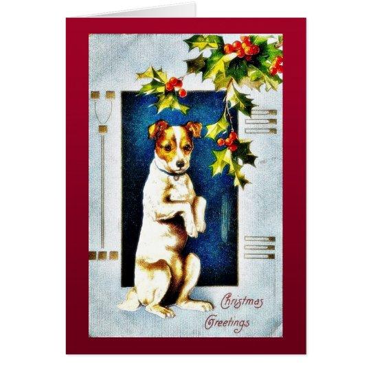 A dog standing card