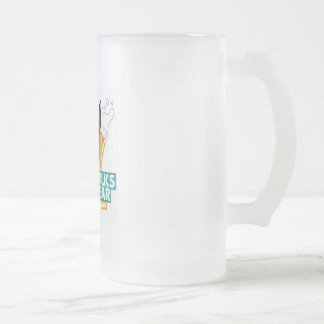 A Dog Walks into a Bar Frosted Mug - Color Logo