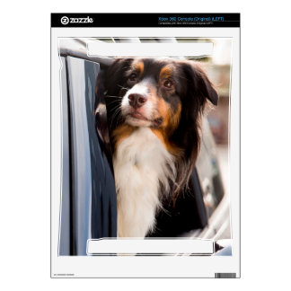 A Dog With Her Head Out of a Car Window Decals For The Xbox 360