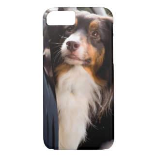 A Dog With Her Head Out of a Car Window iPhone 7 Case