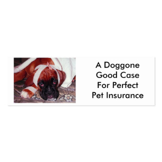 A Doggone Sick Looking Boxer Dog Mini Business Card