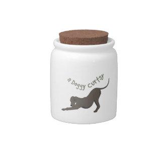 A Doggy Curtsy Candy Jars