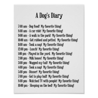 A Dog's Diary print