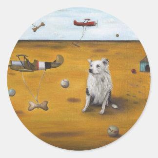 A Dogs Dream Classic Round Sticker