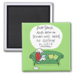 A Dog's Letter to Santa - Funny Christmas Cartoon 2 Inch Square Magnet