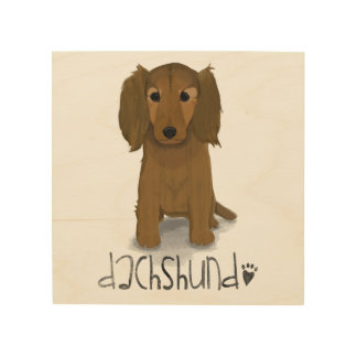 A Dogs Life - Dachshund Wood Print