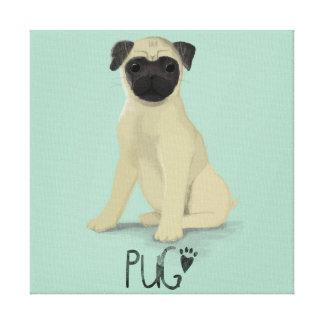 A Dogs Life - Pug Canvas Print
