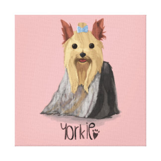 A Dogs Life - Yorkie (Long Haired) Canvas Print