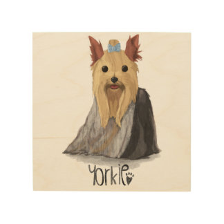 A Dogs Life - Yorkie (Long Haired) Wood Print