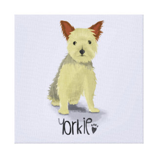A Dogs Life - Yorkie (Short Haired) Canvas Print