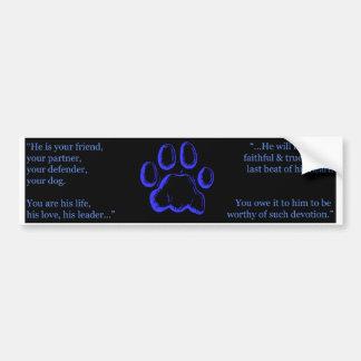 A Dog's Love Bumper Sticker