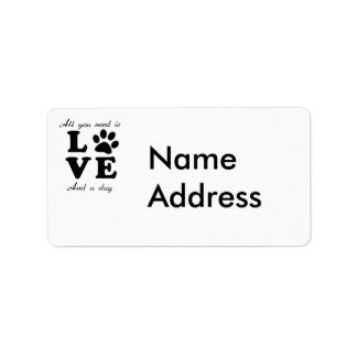 A Dogs Love Label