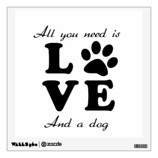 A Dogs Love Wall Sticker