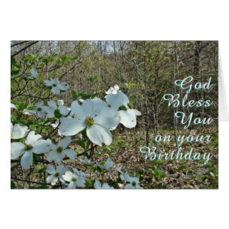 A Dogwood blooming-customize Card