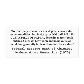 A Dollar Bill Is Just a Piece of Paper Canvas Print