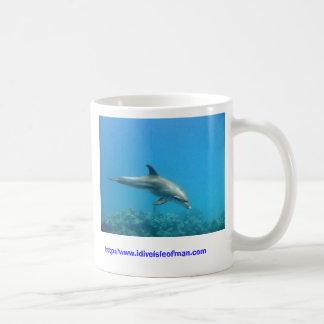 A dolphin on a mug
