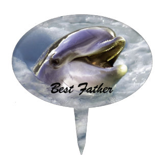 A dolphins best smile cake topper