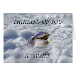 A dolphins best smile greeting card