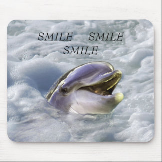 A dolphins best smile mouse pad