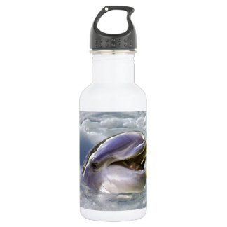 A dolphins best smile water bottle