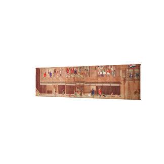 A domestic scene, scroll canvas print