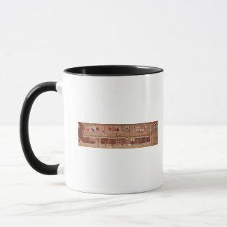 A domestic scene, scroll mug