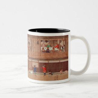 A domestic scene, scroll Two-Tone coffee mug