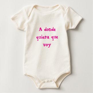 A donde quiera que voy baby bodysuit