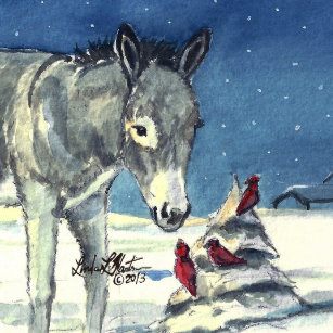 Donkey Christmas Ornaments.Donkey Ornaments Keepsake Ornaments Zazzle