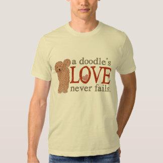 a Doodle's Love never fails - Apricot Goldendoodle T-shirt
