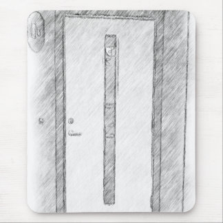 A door mouse pad