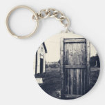 A Door To The Past Basic Round Button Keychain