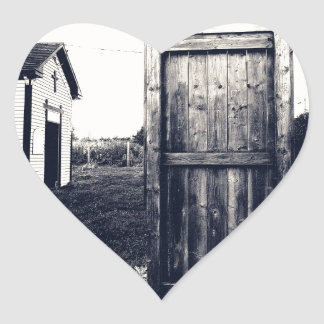 A Door To The Past Heart Stickers