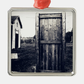A Door To The Past Metal Ornament