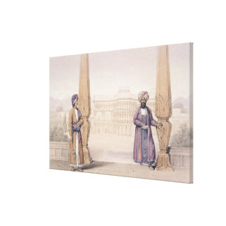 A Dooranee Noble and his Attendant at the Palace Canvas Print