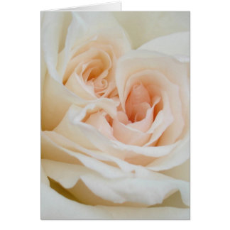 A Double Hearted Romantic White Rose Card
