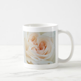 A Double Hearted Romantic White Rose Coffee Mugs