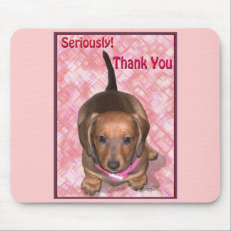 A Doxie Thank you Mouse Pad