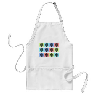 A Dozen Abstract Roses Adult Apron