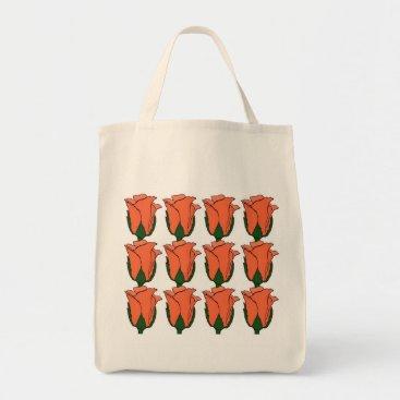SpringArt2012 A Dozen Coral Rose Buds Tote Bag