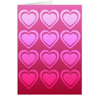 A Dozen Hearts Valentine's Day Card